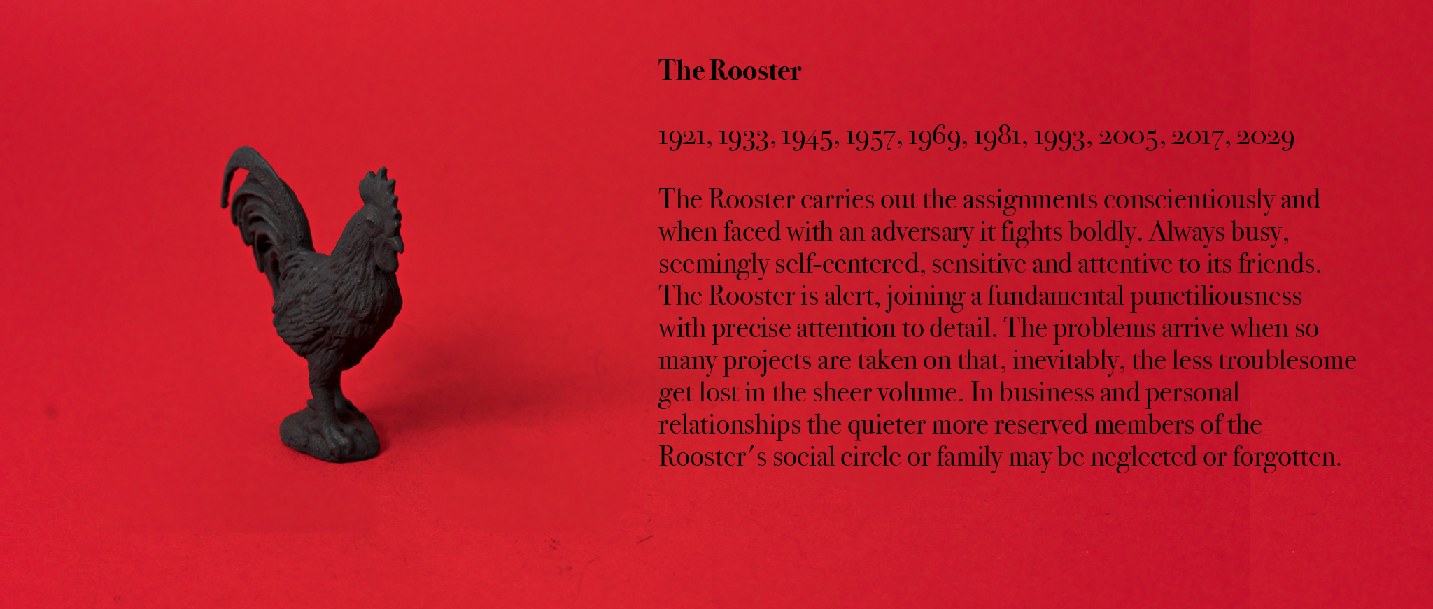 10. Rooster